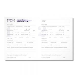 Dangerously Beautiful Treatment Record Cards - Lash Extensions
