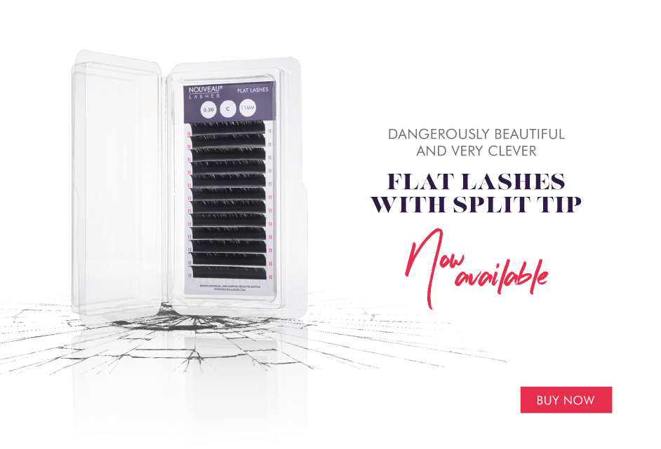 Dangerously beautiful and very clever. Flat lashes with split tip. Now available.